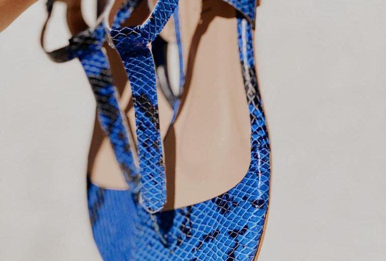 Rasteira Pithon Azul