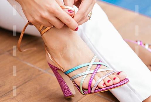 Sandália Glitter Colors LB