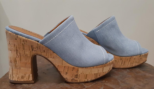 eae5b67770 Tamanco Plataforma Est. Jeans. R 299.00 R  149.50