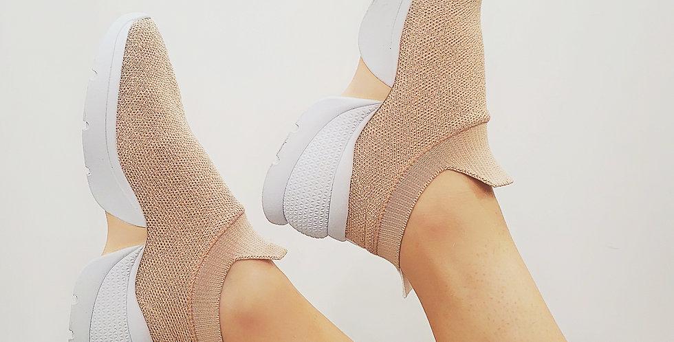 Tênis Socks Nude