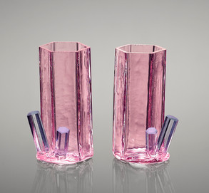 Morganite w/ Aquamarine shot glasses