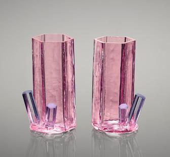 Morganite w/ Aquamarine shot glasses