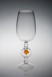 Wulfenite Wine Glass