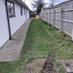 Drainage renewal on a house