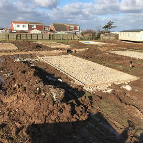 Installation of a new road and static caravan bases for a caravan park
