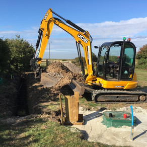 New Septic Tank Fitted