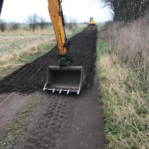 2 mile long farm track repairs