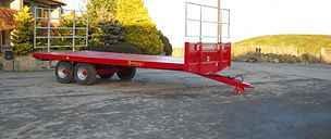 red flat bed trailer for agri hire