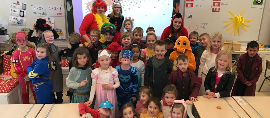 Vandaag vierde het eerste leerjaar carnaval !