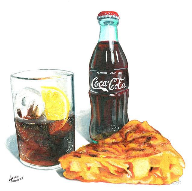 Coca-cola y Tortilla de patata
