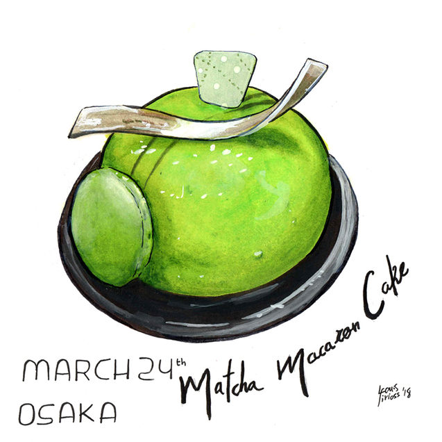 Matcha Macaroon Cake