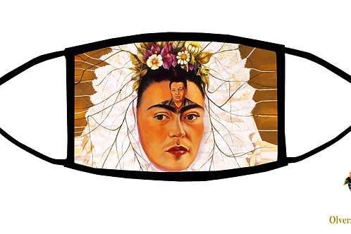 Frida With Diego On Her Mind Adjustable Face Mask / 3-ply/ Reusable/ Handmade in