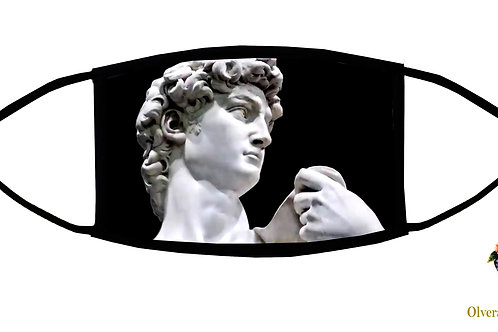 David (Michelangelo) Adjustable Face Mask / 3-ply/ Washable/Made in USA