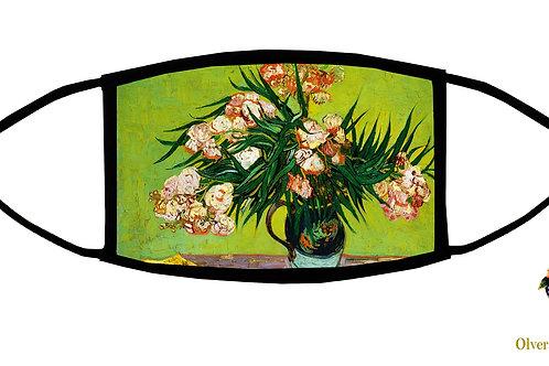 Oleanders (Van Gogh) Adjustable Face Mask/ Reusable/ Soft/ Handmad