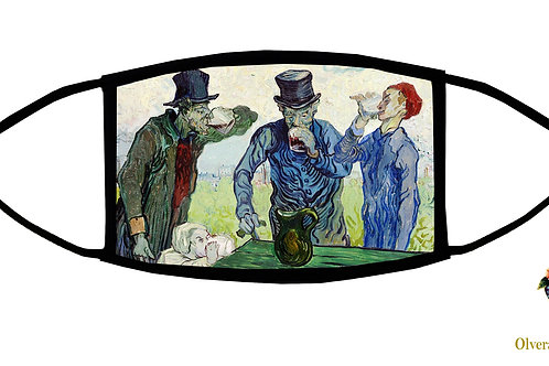 The Drinkers (Van Gogh) Adjustable Face Mask/ Reusable/ Soft/ Handmade in USA