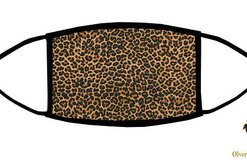 Leopard Skin Adjustable Face Mask / 3-ply/ Reusable/Handmade in USA
