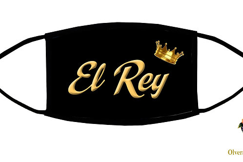 """El Rey (black/""""The King"""") Adjustable Face Mask/3-ply/Reusable/ Homemade in USA"""