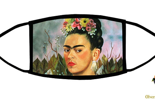 Picasso's Earring (Frida) Adjustable Face Mask/ 3-ply/ Reusable/ Handmade in USA