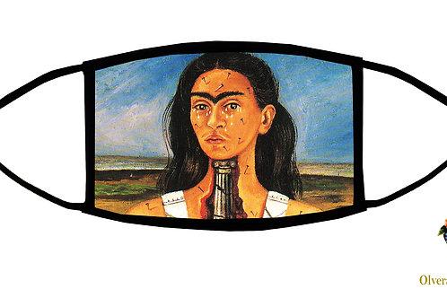 The Broken Column (Frida) Adjustable Face Mask/3-ply/ Reusable/ Handmade in USA