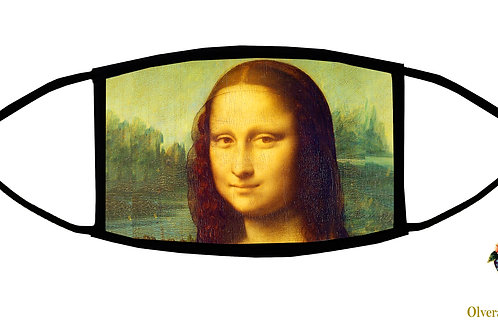 Mona Lisa (da Vinci) Adjustable Face Mask / 3-ply/ Reusable/ Handmade in USA