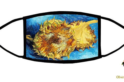 Sunflower (Van Gogh) Adjustable Face Mask/ Reusable/ Soft/ Handmade in USA