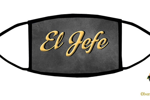"""El Jefe (""""the Boss"""") Adjustable Face Mask / 3-ply/ Reusable/ Handmade in USA"""