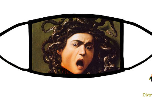 Medusa (Michelangelo) Adjustable Face Mask / 3-ply/ Washable/Handmade in USA