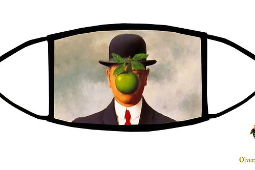 The Son of the Man (Magritte) Adjustable Face Mask/ 3-ply/ Washable/ Made in USA