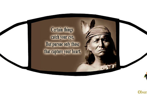 Certain Things Catch Your Eye... quote Adjustable Face Mask/3-ply/Reusable/USA