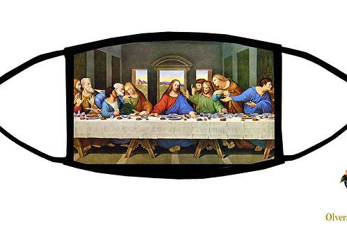 The Last Supper (da Vinci) Adjustable Face Mask/ 3-ply/ Reusable/ Handmade in US