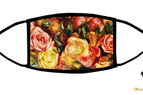 Roses (Renoit) Adjustable Face Mask/ Reusable/ Soft/ Handmade in USA