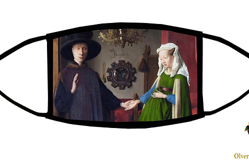 The Arnolfini Portrait (Jan van Eyck) Adjustable Face Mask/ 3-ply/ Made in US