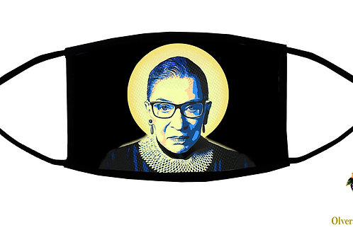 RBG (Ruth Bader Ginsburg) Adjustable Face Mask/ 3-ply/ Reusable/Made in USA