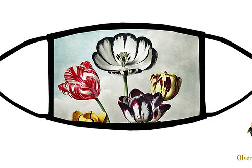 Tulips from the Temple of Flora (Thornton) Adjustable Face Mask/Reusable/US Made