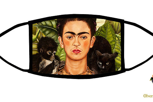 Frida Monkey and Cat Adjustable Face Mask / 3-ply/ Reusable/ Handmade in USA