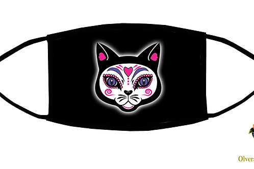 The Cat Adjustable Face Mask/ 3-ply/ Washable/ Reusable/ Soft/ Handmade in USA