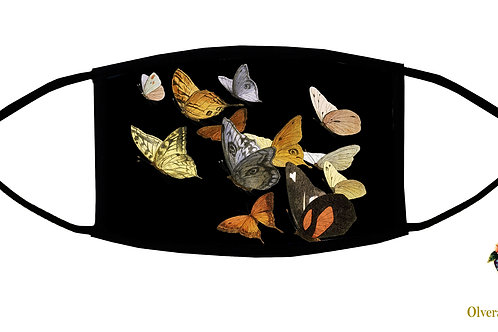 Butterflies Adjustable Face Mask/ Reusable/ Washable/ Soft/ Handmade in USA