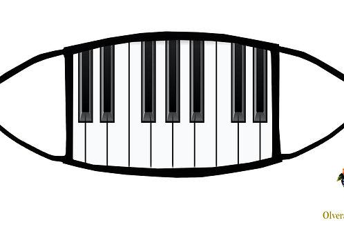 Piano Keys Adjustable Face Mask / 3-ply/ Reusable/ Soft/ Handmade in USA