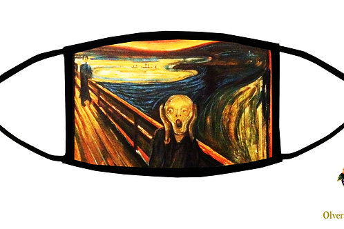 The Scream (Munch) Adjustable Face Mask / 3-ply/ Washable/ Reusable/ US Handmade