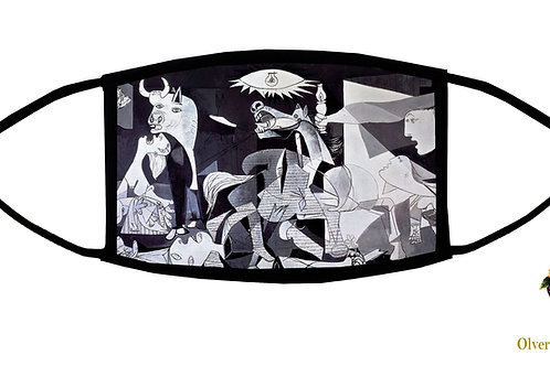 Guernica (Picasso) Adjustable Face Mask / 3-ply/ Reusable/ Made in USA