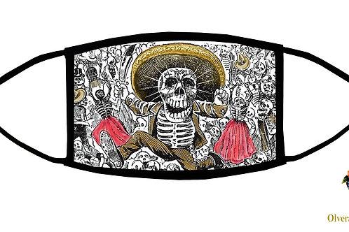 Mexican Revolution (Posada) Adjustable Face Mask / 3-ply/ Reusable/ Made in USA