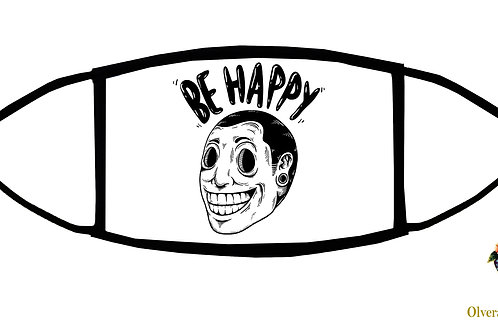 Be Happy Adjustable Face Mask / 3-ply/ Reusable/ Soft/ Handmade in USA