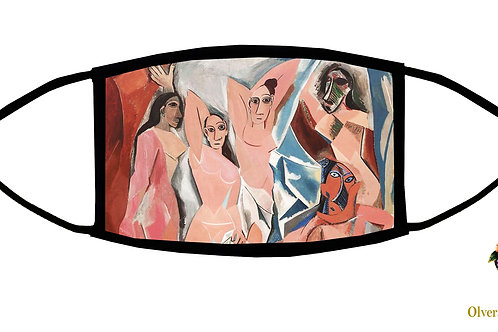 Les Demoiselles... (Picasso) Adjustable Face Mask / 3-ply/ Reusable/ Made in USA