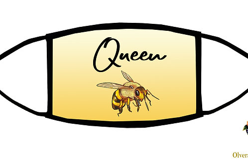 Queen Bee Adjustable Face Mask/ Reusable/ Soft/ Handmade in USA