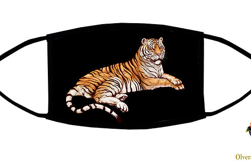 Tiger Adjustable Face Mask / 3-ply/ Reusable/Handmade in US