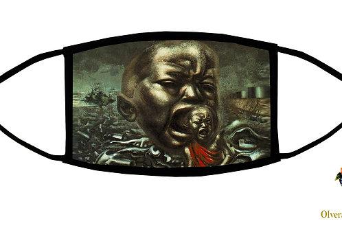 Echo of a Scream (Siqueiros) Adjustable Face Mask/ 3-ply/ Reusable/ Made in USA