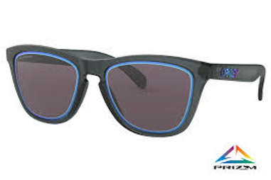 Oakley Frogskins, Matte Crystal Black with Prizm Grey Lens