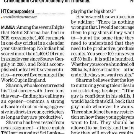 27 December press release in Hindustan Times Mumbai