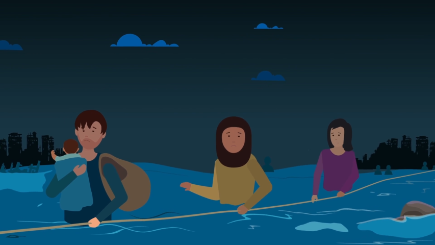Animation for an NGO that protects the rights of migrants