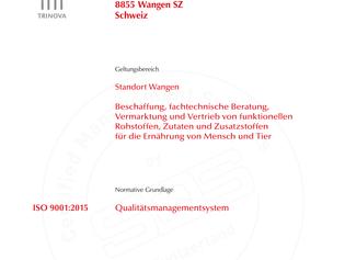 ISO 9001:2015 - erfolgreiche Rezertifizierung bis 2022